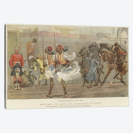 The English General's Syces Canvas Print #BMN7987} by Lady Butler Canvas Wall Art