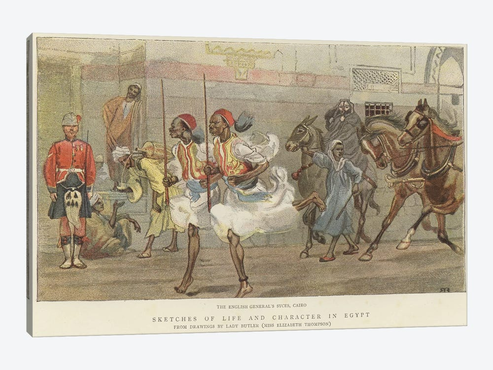 The English General's Syces by Lady Butler 1-piece Canvas Artwork