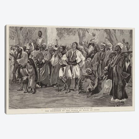 The Reception Of The Prince Of Wales At Cairo 3-Piece Canvas #BMN7988} by Lady Butler Art Print