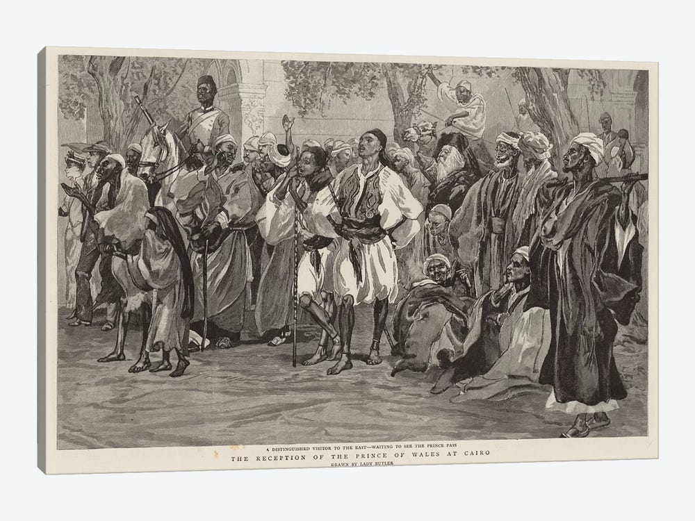 The Reception Of The Prince Of Wales At Cairo by Lady Butler 1-piece Canvas Art Print