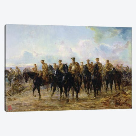 The Retreat From Mons, 1927 Canvas Print #BMN7990} by Lady Butler Canvas Artwork
