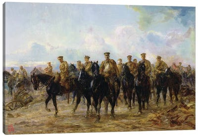 The Retreat From Mons, 1927 Canvas Art Print