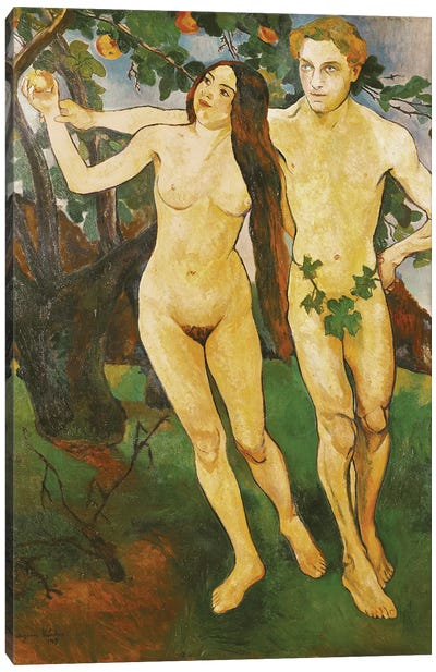 Adam And Eve, 1909 Canvas Art Print