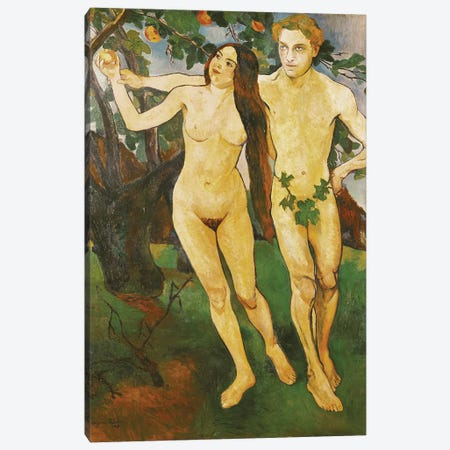 Adam And Eve, 1909 Canvas Print #BMN7992} by Marie Clementine Valadon Canvas Wall Art