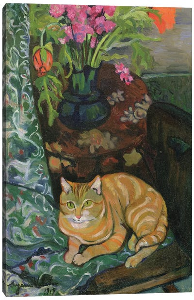 Bouquet And A Cat, 1919 Canvas Art Print