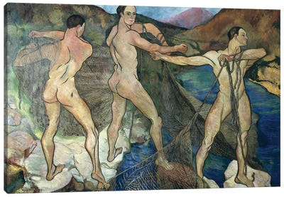 Casting The Net, 1914 Canvas Art Print