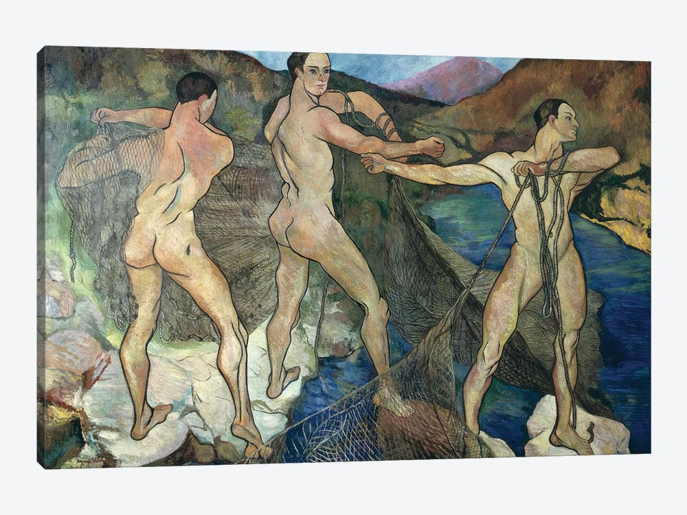 Casting The Net, 1914 by Marie Clementine Valadon 1-piece Canvas Artwork