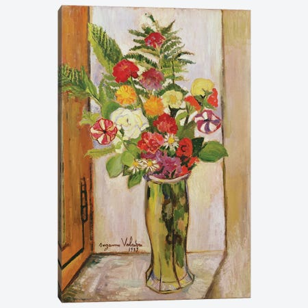 Flowers, 1929 Canvas Print #BMN7998} by Marie Clementine Valadon Canvas Artwork