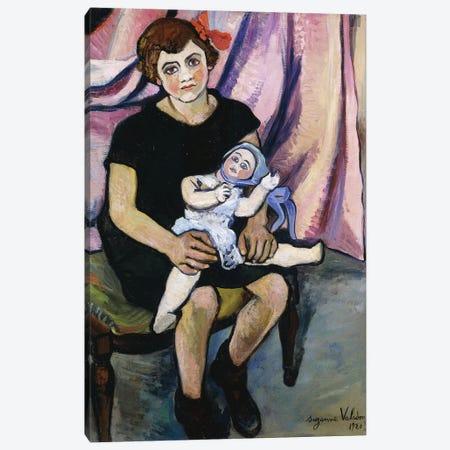 Girl With A Doll (Fillette a la Poupee), 1920 3-Piece Canvas #BMN7999} by Marie Clementine Valadon Canvas Art