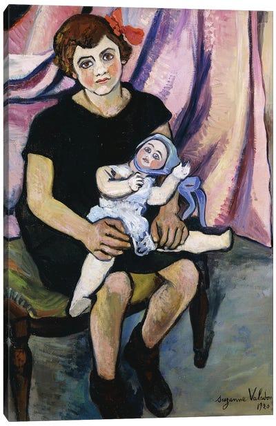 Girl With A Doll (Fillette a la Poupee), 1920 Canvas Art Print