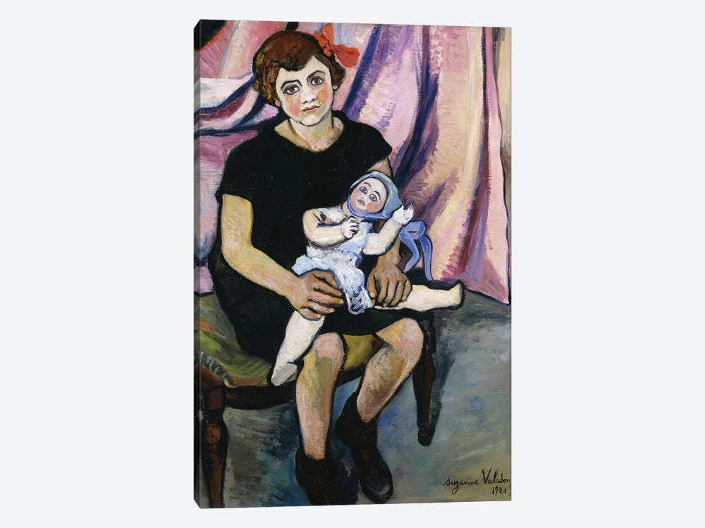 Girl With A Doll (Fillette a la Poupee), 1920 by Marie Clementine Valadon 1-piece Canvas Print