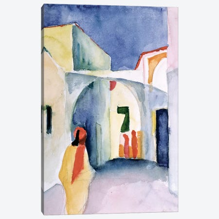 A Glance Down An Alley  Canvas Print #BMN799} by August Macke Canvas Wall Art