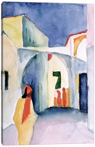 A Glance Down an Alley by August Macke Canvas Wall Art