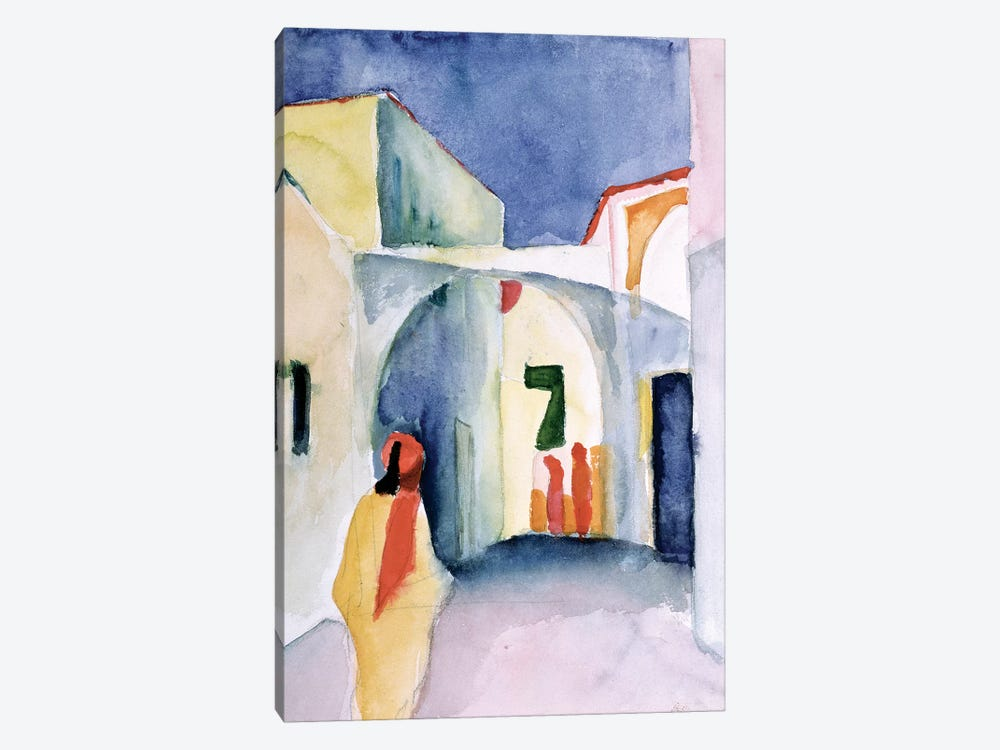 A Glance Down An Alley  by August Macke 1-piece Canvas Art