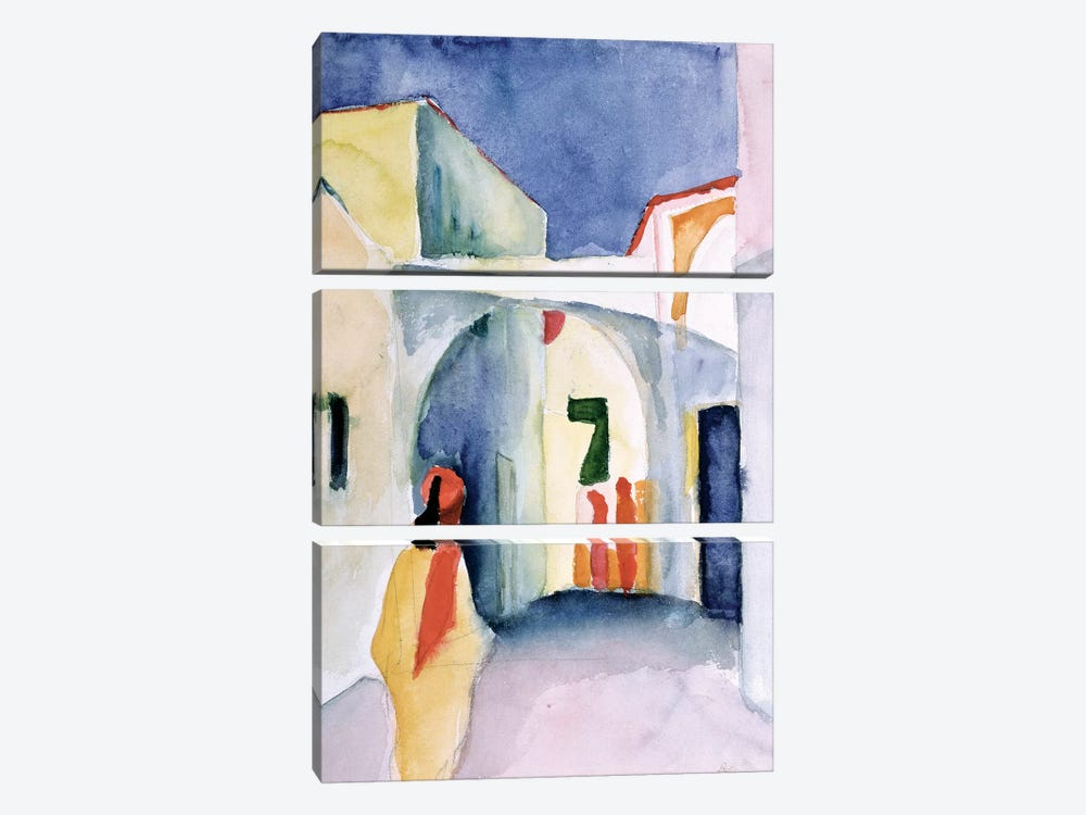 A Glance Down An Alley  by August Macke 3-piece Canvas Art