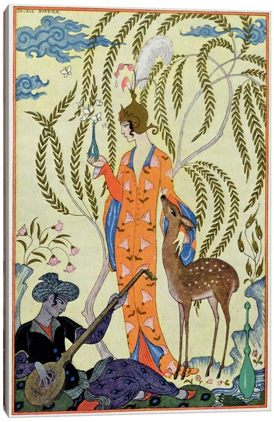 Persia, illustration from 'The Art of Perfume', pub. 1912 (pochoir print) Canvas Art Print