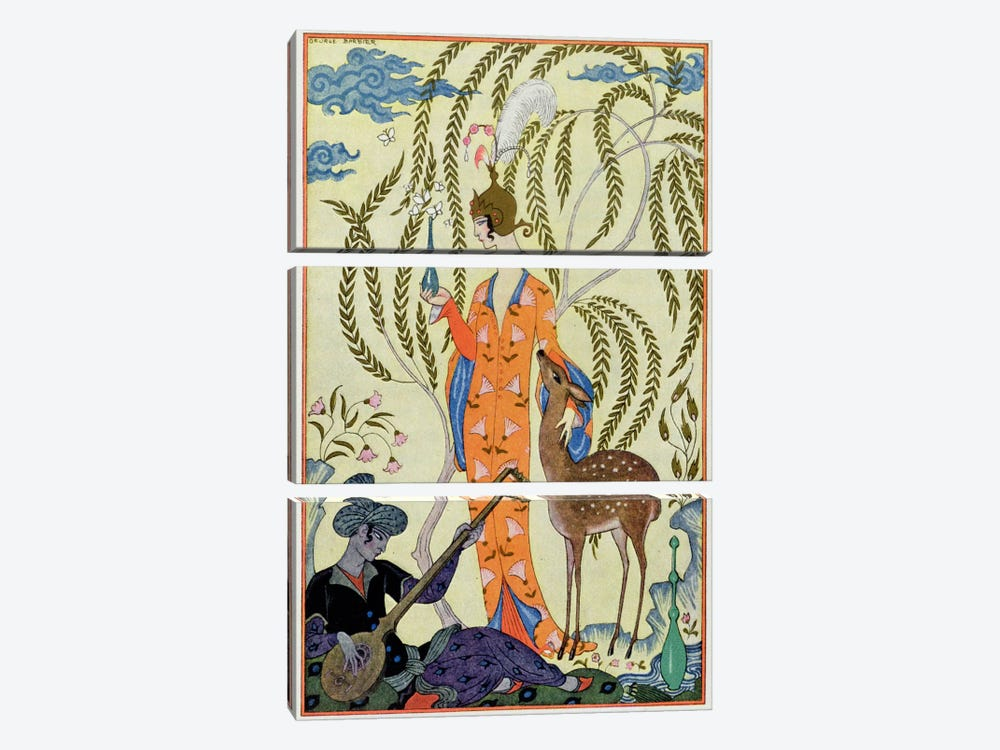 Persia, illustration from 'The Art of Perfume', pub. 1912 (pochoir print) by George Barbier 3-piece Art Print