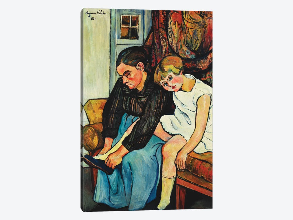 Grandmere Chaussant Une Fillette, 1931 by Marie Clementine Valadon 1-piece Canvas Wall Art