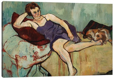 Marie Coca With Arbi, 1927 Canvas Art Print