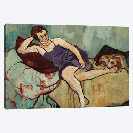 Marie Coca With Arbi, 1927 Canvas Print #BMN8001} by Marie Clementine Valadon Canvas Art