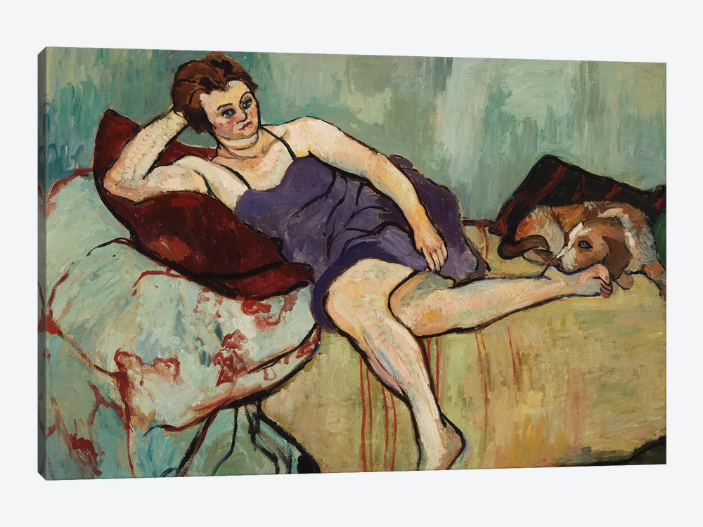 Marie Coca With Arbi, 1927 by Marie Clementine Valadon 1-piece Art Print