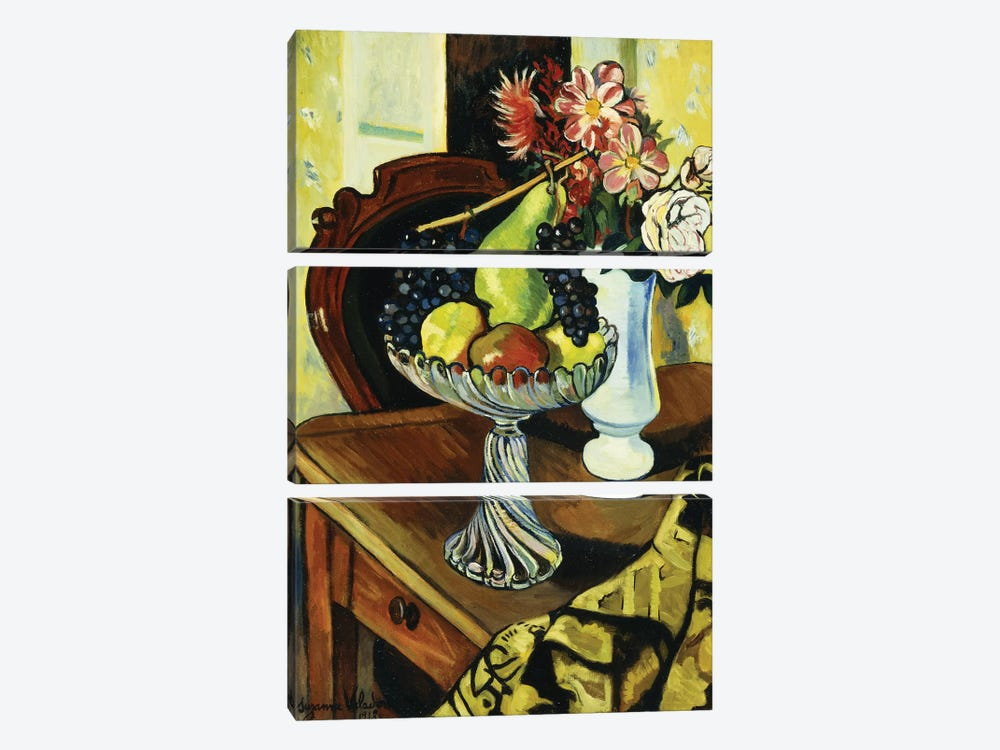 Nature Morte Au Compotier, 1918 by Marie Clementine Valadon 3-piece Canvas Wall Art