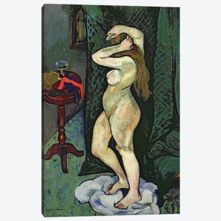 Nude Arranging Her Hair, c.1916 Canvas Print #BMN8003} by Marie Clementine Valadon Canvas Wall Art