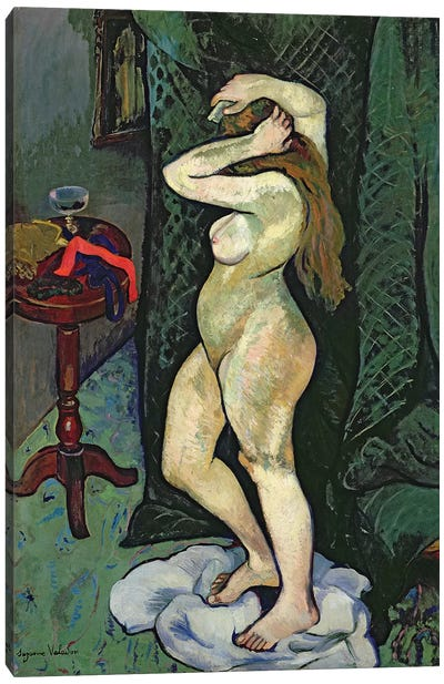 Nude Arranging Her Hair, c.1916 Canvas Art Print