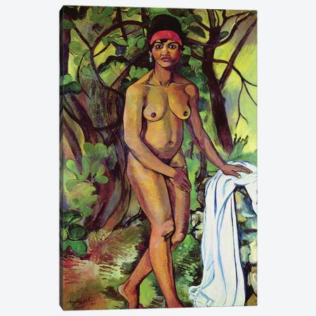Nude Negress, 1919 3-Piece Canvas #BMN8004} by Marie Clementine Valadon Canvas Art Print