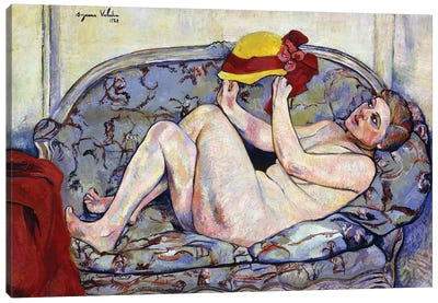 Nude Reaching On A Sofa; Nu Allonge Sur Un Canape, 1928 Canvas Art Print