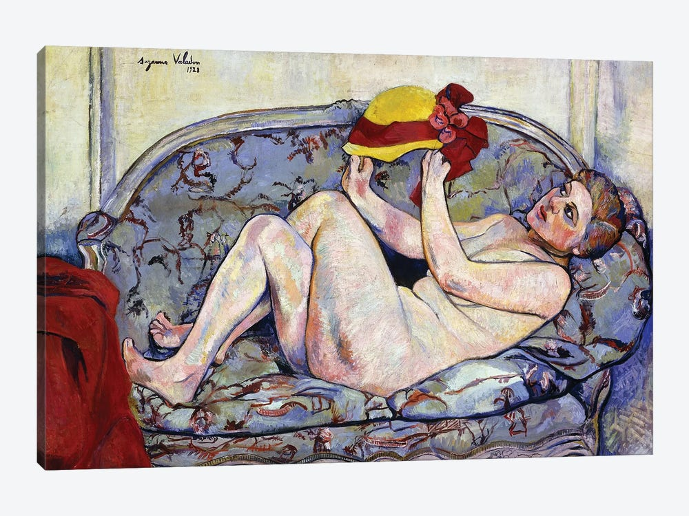 Nude Reaching On A Sofa; Nu Allonge Sur Un Canape, 1928 by Marie Clementine Valadon 1-piece Canvas Art Print
