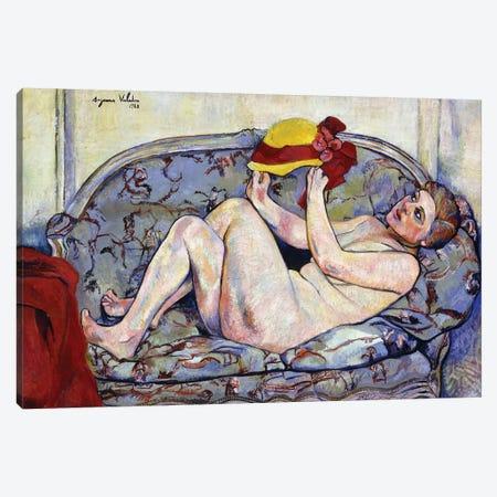 Nude Reaching On A Sofa; Nu Allonge Sur Un Canape, 1928 3-Piece Canvas #BMN8005} by Marie Clementine Valadon Canvas Print