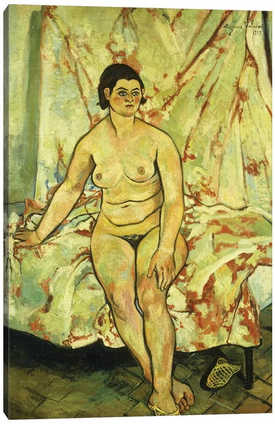 Nude Sat On The Edge Of A Bed; Nu Assis Sur Le Bord d'Un Lit, 1929 Canvas Art Print