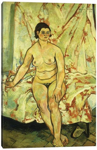 Nude Sat On The Edge Of A Bed; Nu Assis Sur Le Bord d'Un Lit, 1929 Canvas Art Print