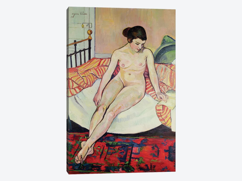 Nude With A Striped Blanket, 1922 by Marie Clementine Valadon 1-piece Canvas Print