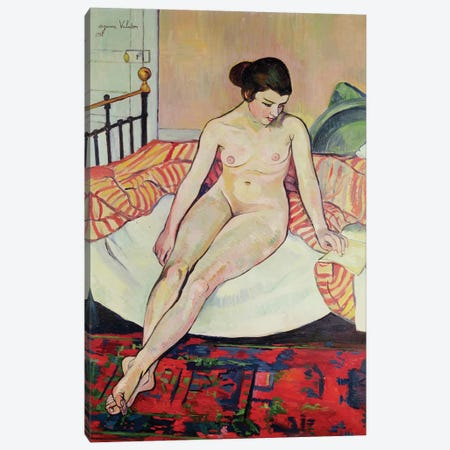 Nude With A Striped Blanket, 1922 3-Piece Canvas #BMN8007} by Marie Clementine Valadon Canvas Print
