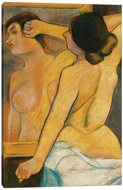 Nude Woman In Front Of A Mirror; Femme Nue Devant Un Miroir, 1904 Canvas Art Print