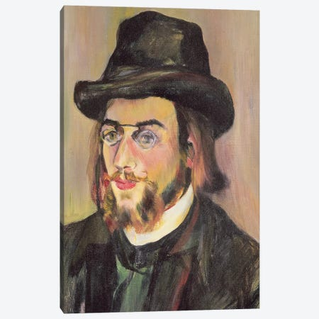 Portrait Of Erik Satie (1866-1925) c.1892 Canvas Print #BMN8009} by Marie Clementine Valadon Canvas Artwork