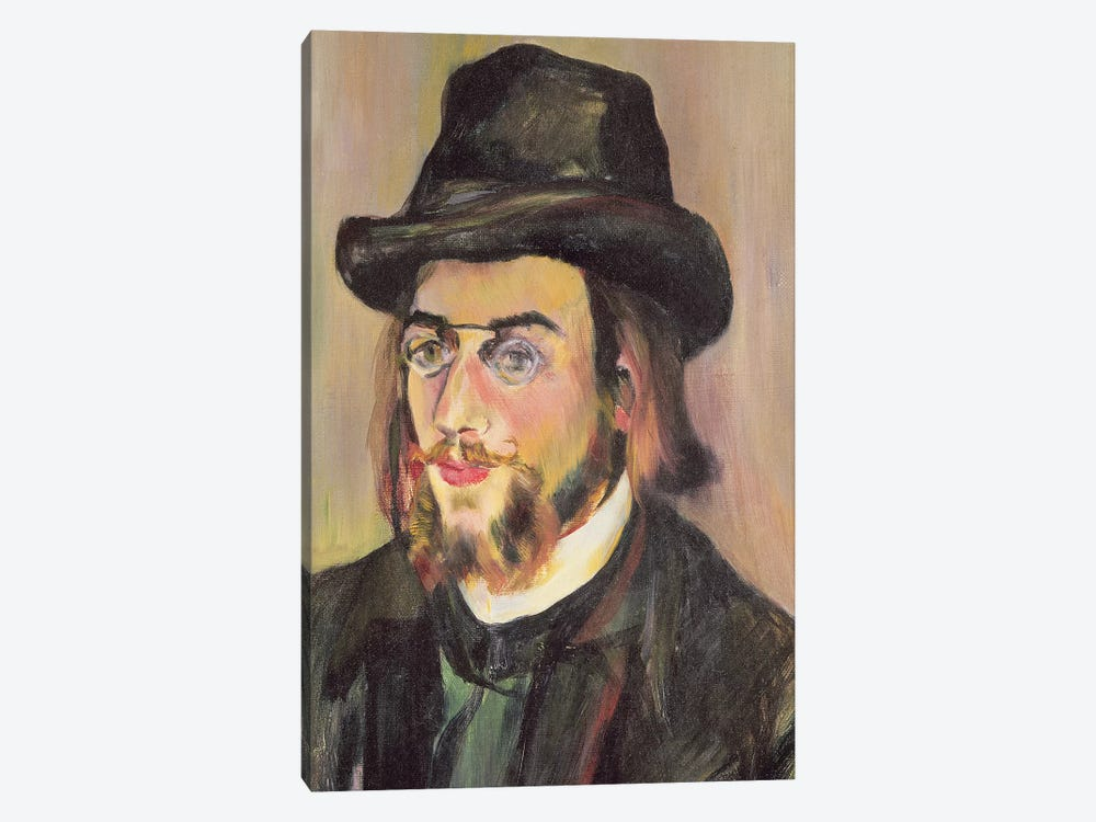 Portrait Of Erik Satie (1866-1925) c.1892 by Marie Clementine Valadon 1-piece Canvas Art Print