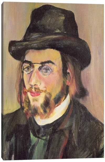 Portrait Of Erik Satie (1866-1925) c.1892 Canvas Art Print