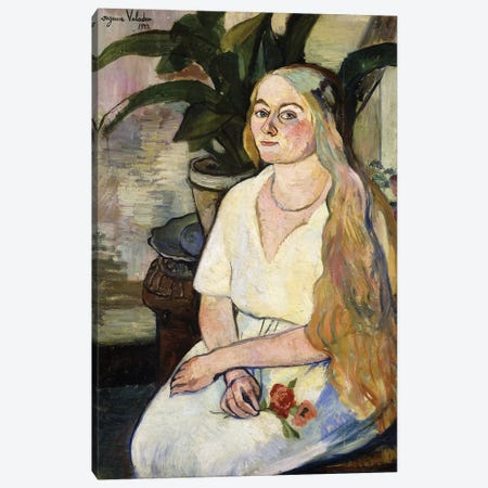 Portrait Of Germaine Utter, 1922 Canvas Print #BMN8010} by Marie Clementine Valadon Art Print
