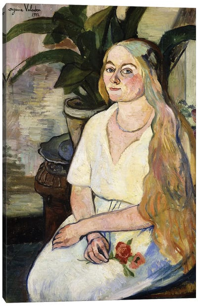 Portrait Of Germaine Utter, 1922 Canvas Art Print