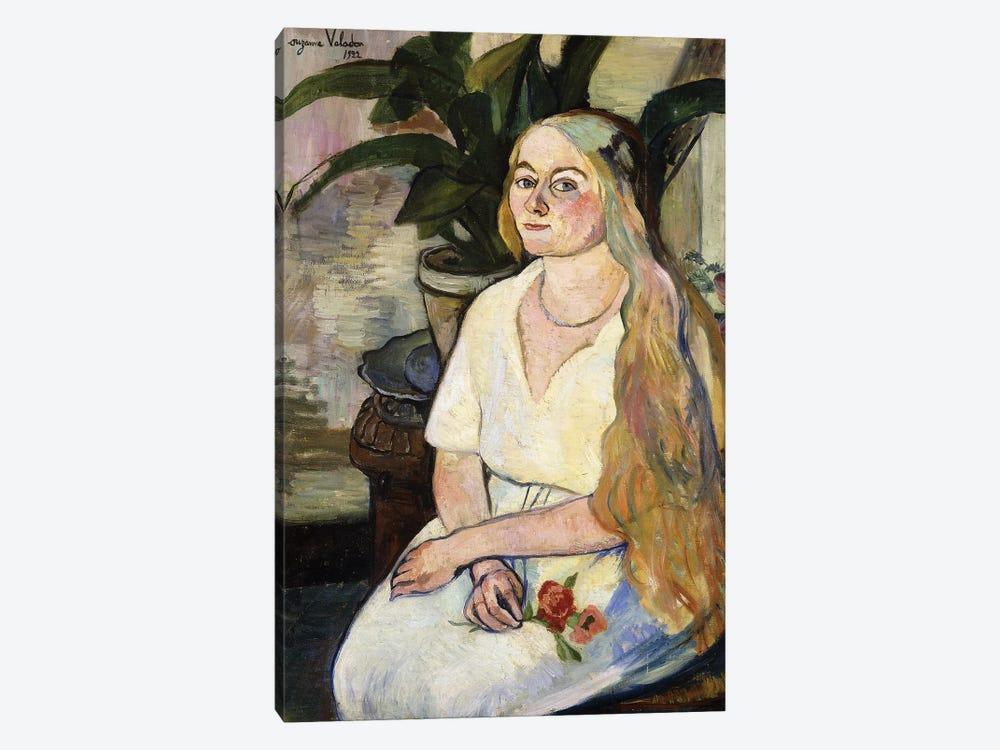 Portrait Of Germaine Utter, 1922 by Marie Clementine Valadon 1-piece Canvas Art Print