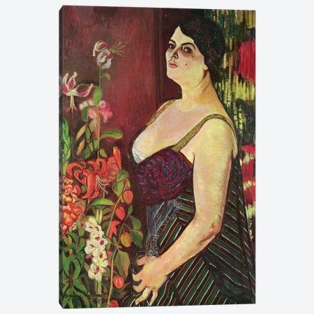 Portrait Of Madame Coquiot, 1918 3-Piece Canvas #BMN8011} by Marie Clementine Valadon Canvas Art Print