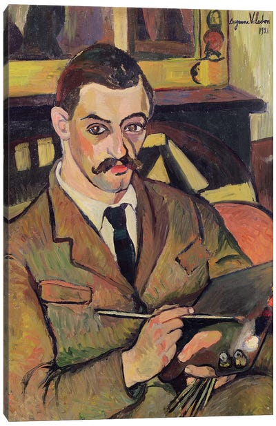 Portrait Of Maurice Utrillo (1883-1955) 1921 Canvas Art Print