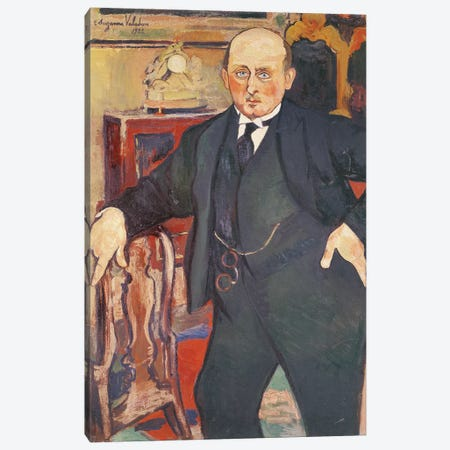 Portrait Of Monsieur Mori, 1922 Canvas Print #BMN8014} by Marie Clementine Valadon Canvas Wall Art