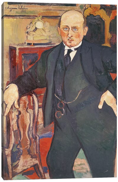 Portrait Of Monsieur Mori, 1922 Canvas Art Print
