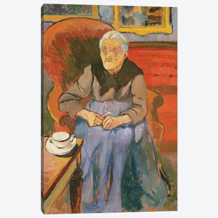 Portrait Of The Artist's Mother, 1912 Canvas Print #BMN8015} by Marie Clementine Valadon Canvas Art