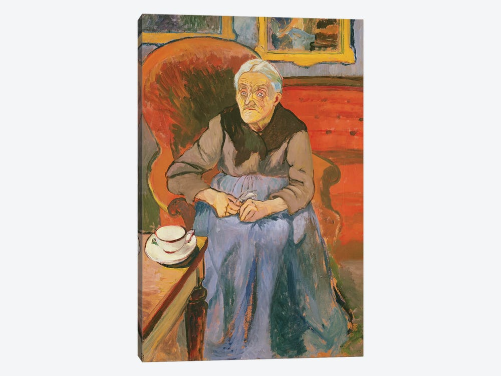 Portrait Of The Artist's Mother, 1912 by Marie Clementine Valadon 1-piece Canvas Art