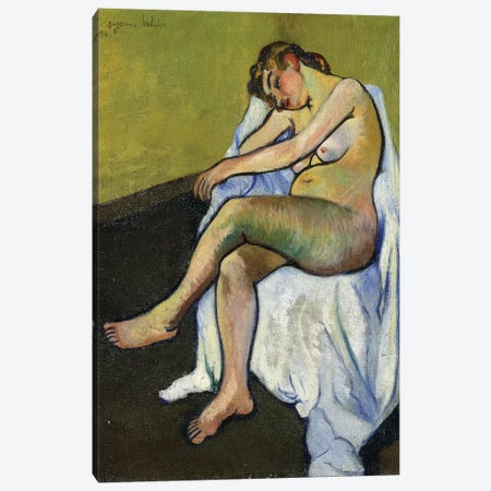 Seated Nude (Nu Assis), 1916 3-Piece Canvas #BMN8018} by Marie Clementine Valadon Canvas Print